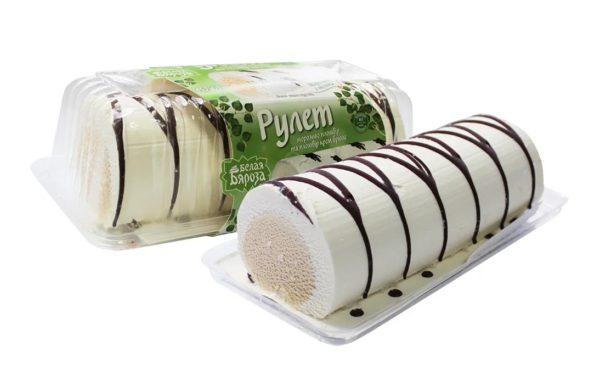 Мороженое пломбир Белая Бяроза рулет крем-брюле 450 г