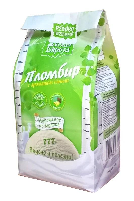 """Мороженое """"Белая Бяроза"""" Пломбир с ароматом ванили"""