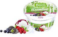 Белая Бяроза пломбир весовой лесные ягоды 110 г