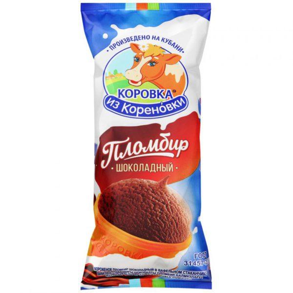 Мороженое Коровка из Кореновки пломбир шоколадный